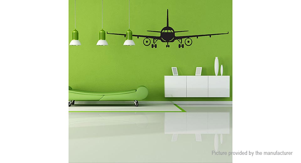 Airplane Styled Removable Wall Sticker Home Decor (Size L)