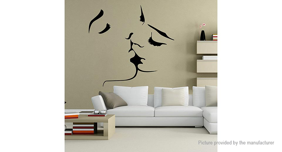 Kissing Lovers Styled Removable Wall Sticker Home Decor