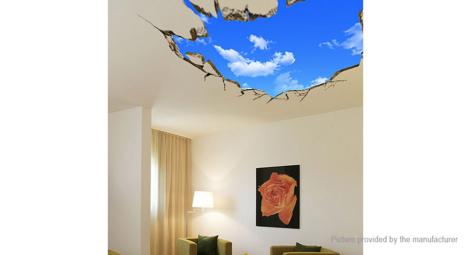 Virtual Window Styled Wall Ceiling Sticker Decoration Decal