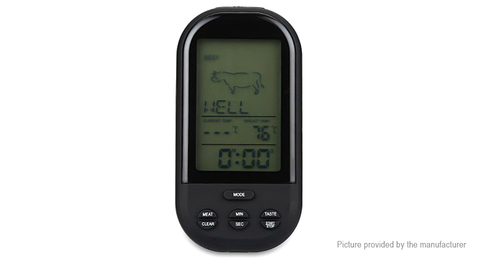 TS-HY62 Wireless Digital Cooking Thermometer Food BBQ Timer
