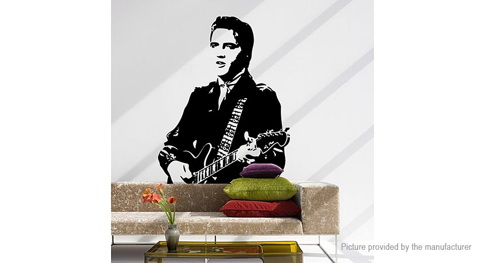 Elvis Presley Styled Removable Wall Sticker Home Decor
