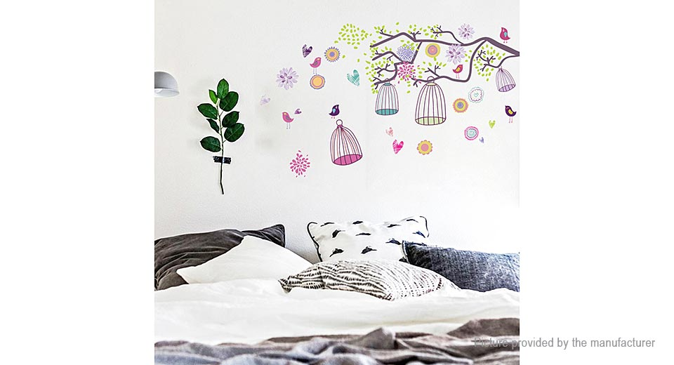 Bird Cages Styled Removable Wall Sticker Home Decor