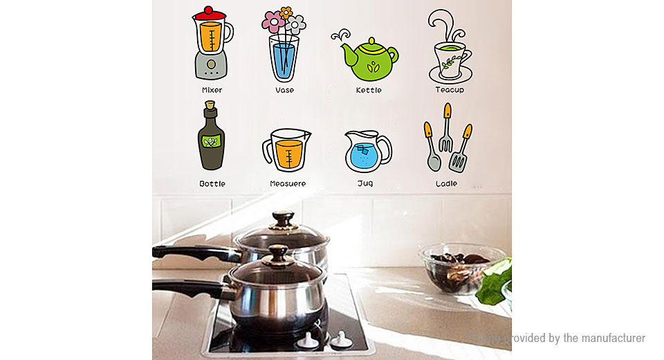 Kitchen Stuffs Styled Removable Wall Sticker Home Decor