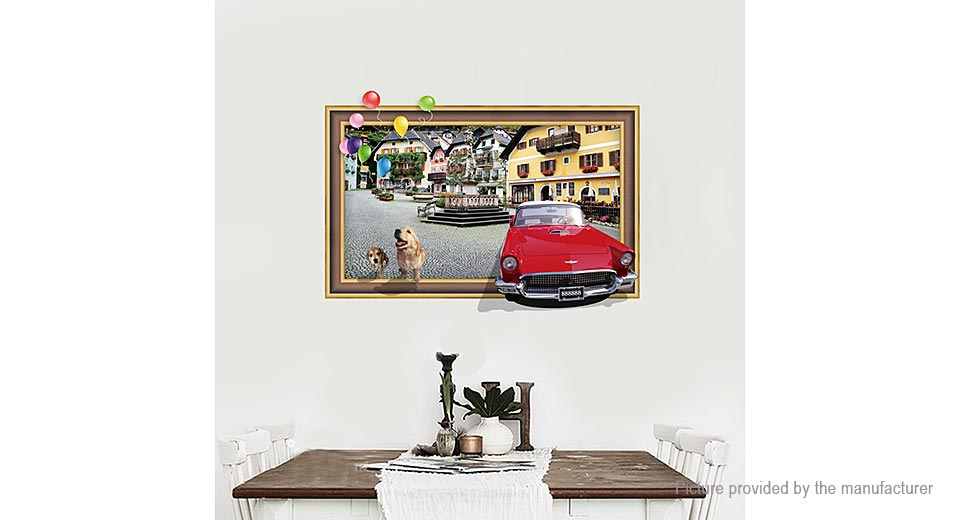Streetscape Styled Removable Wall Sticker Home Decor