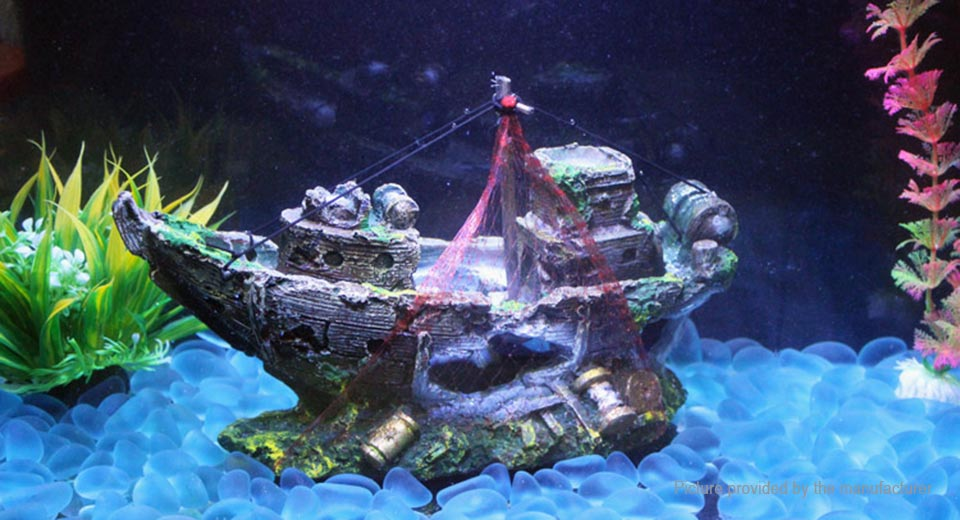 Pirate ship styled fish tank decor aquarium for Aquarium decoration ship