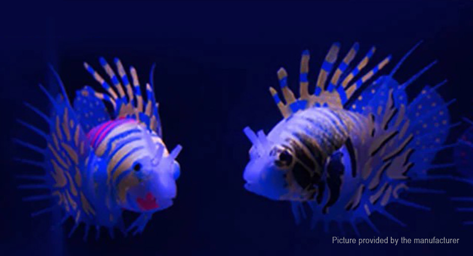 Glow-in-the-Dark Sea Lionfish Styled Fish Tank Decor Aquarium Landscape Decoration