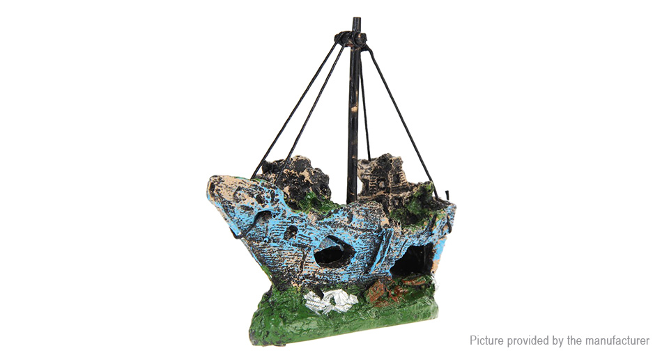 Pirate Ship Styled Fish Tank Decor Aquarium Landscape Decoration