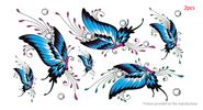 Butterfly Styled Temporary Tattoo Body Art Fake Sticker (2-Pack)
