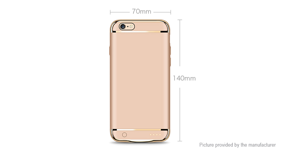 check out a6381 6682d Joyroom D-M124 Rechargeable External Battery Case for iPhone 7/6s/6 (3.7V  3000mAh)