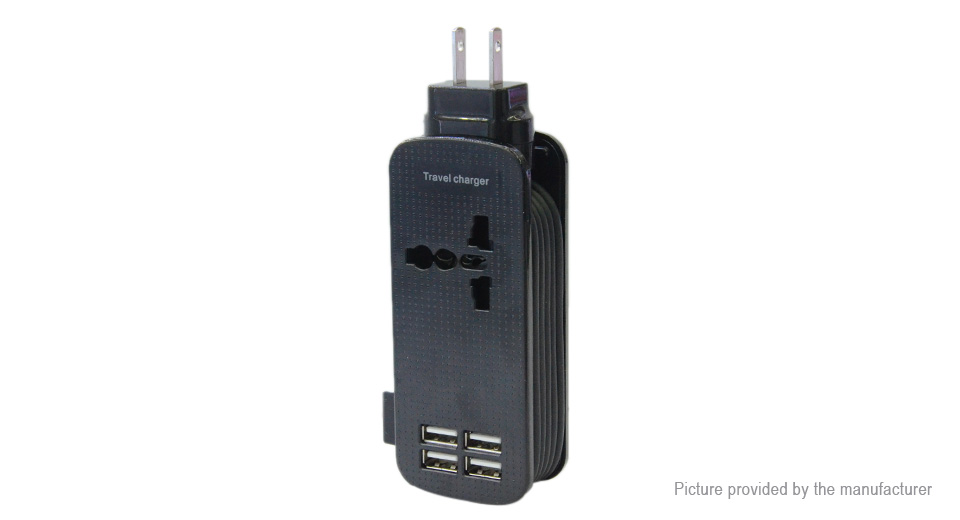 Product Image: 4-port-usb-travel-charger-power-adapter-us
