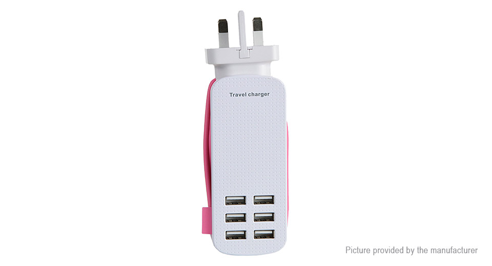 Product Image: 6-port-usb-ac-travel-charger-power-adapter-uk