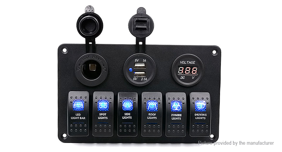 Product Image: wupp-car-auto-boat-marine-led-rocker-switch-panel