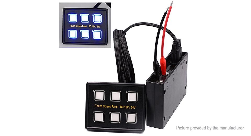 $61.79 WUPP Car Auto Boat Marine LED 6 Gang Capacitive Touch Screen ...