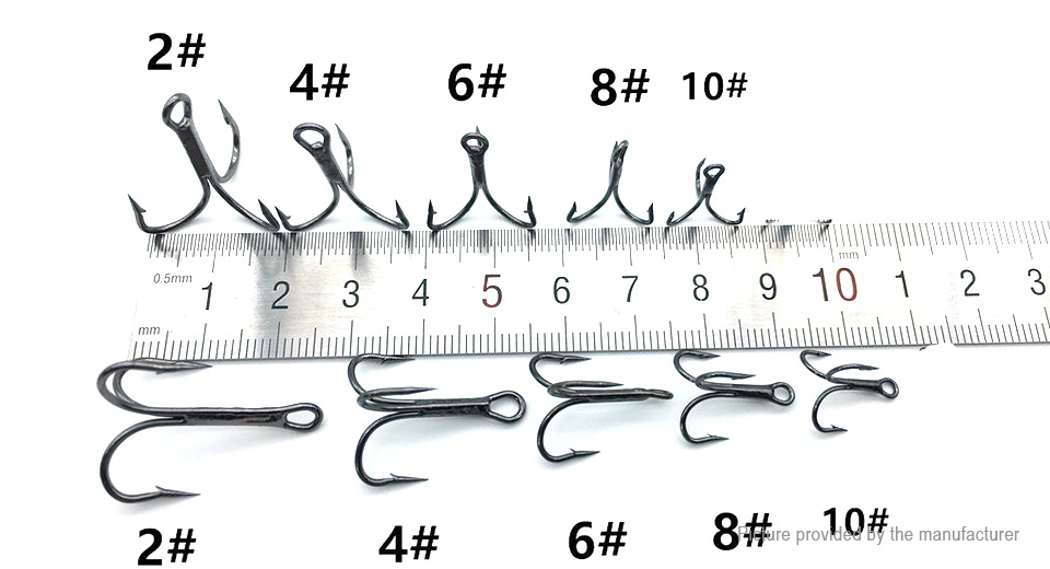 Omart Fishing Treble Hooks (50 Pieces)