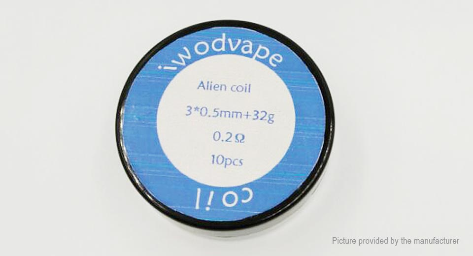 $3.56 Iwodevape Kanthal A1 Alien Pre-Coiled Wires for RBA Atomizer ...