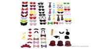 Colorful Photo Shooting Booth Props Decoration (76-Piece Set)