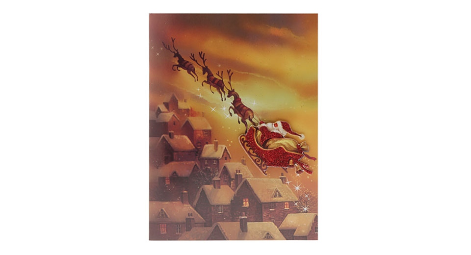 $2.26 Musical Christmas Greeting Card - music playing while opening ...