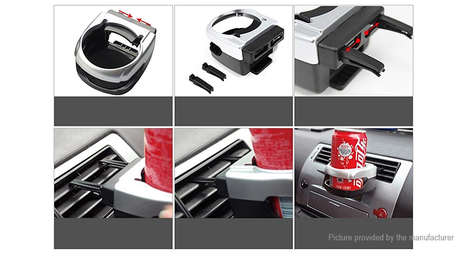 Car Air Vent Mount Drink Can Cup Bottle Holder Stand