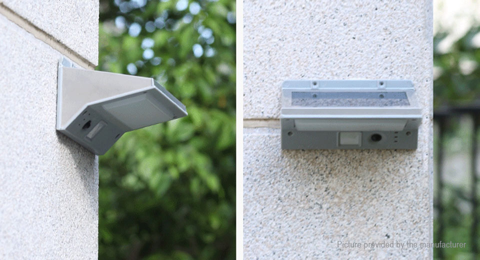 Outdoor Solar Powered PIR Motion Sensor LED Garden Wall Light