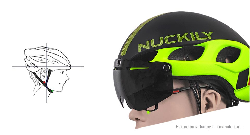 NUCKILY PB04 Integrated Bicycle Cycling Glasses Safety Helmet Hat