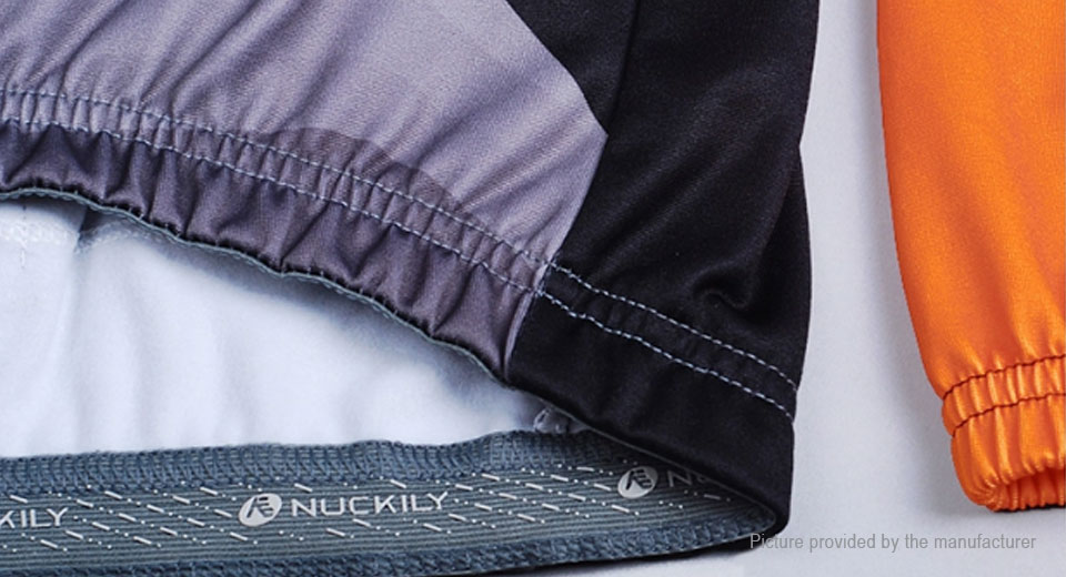 NUCKILY NJ531-W Men's Winter Cycling Windproof Fleece Jersey (Size XL)