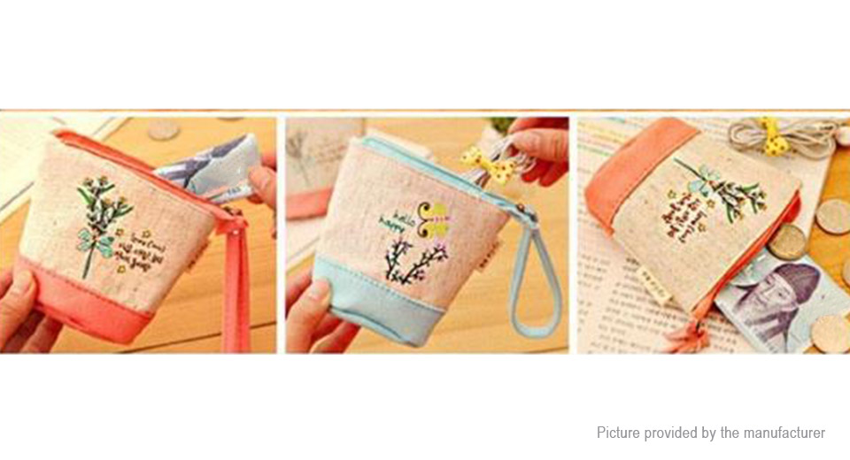 Cute Pattern Women's Zipper Coin Purse Wallet