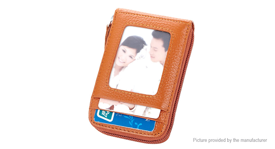 RFID Blocking PU Leather Credit Card Holder Wallet Case