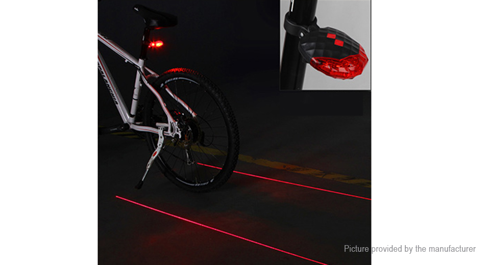 Shell-Shaped 5-LED 7-Mode 150LM Bicycle Tail Warning Light