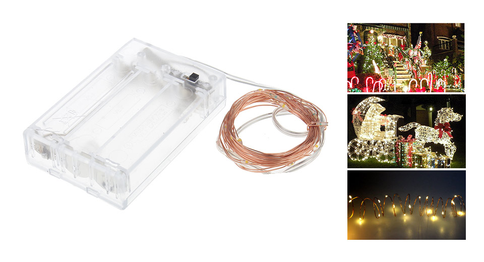 20*LED Copper Wire Christmas Decorative String Light (2m)