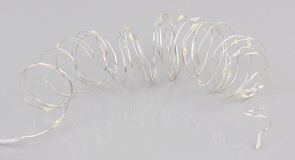 100*LED Silver Wire Christmas Decorative String Light (10m)