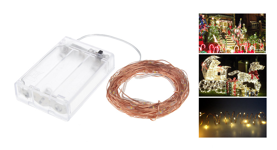 100*LED Copper Wire Christmas Decorative String Light (10m)