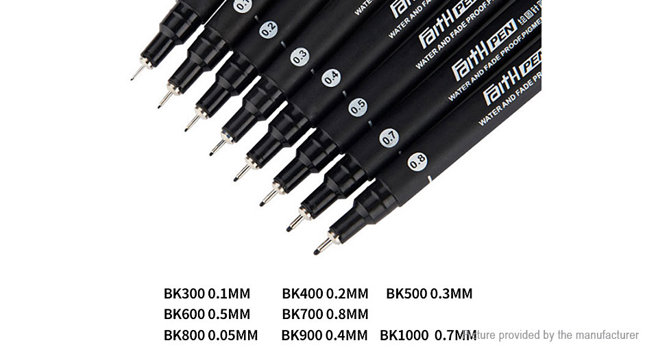 BAOKE 0.8mm Fine Line Drawing Pen