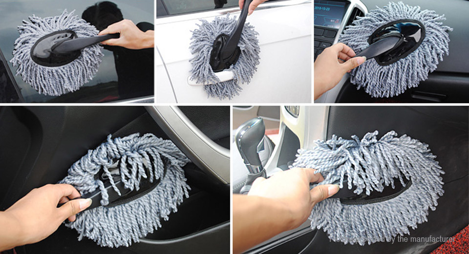 Retractable Hand Grip Car Waxing Cleaning Brush (2 Pieces Set)