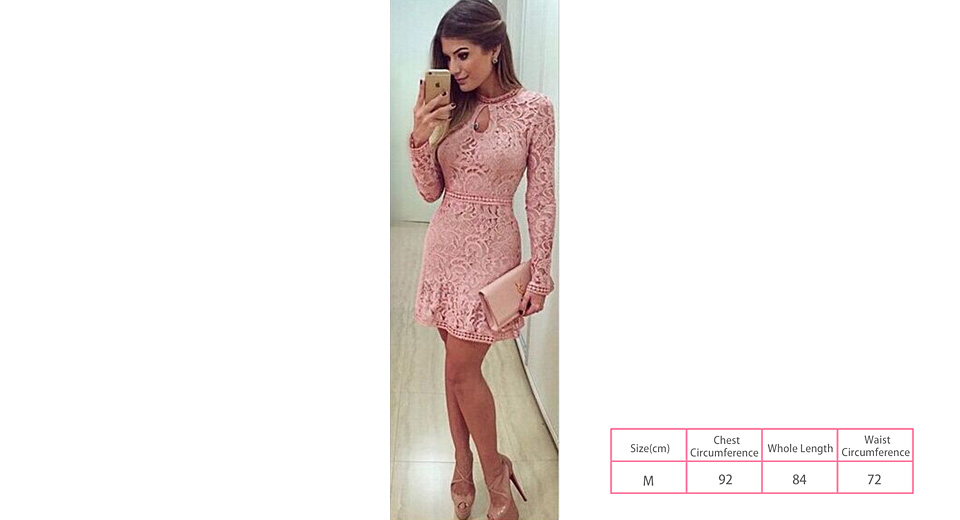 Product Image: women-s-openwork-long-sleeve-bodycon-lace-dress