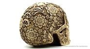 Flower Skull Head Home / Office Decoration Desktop Ornament