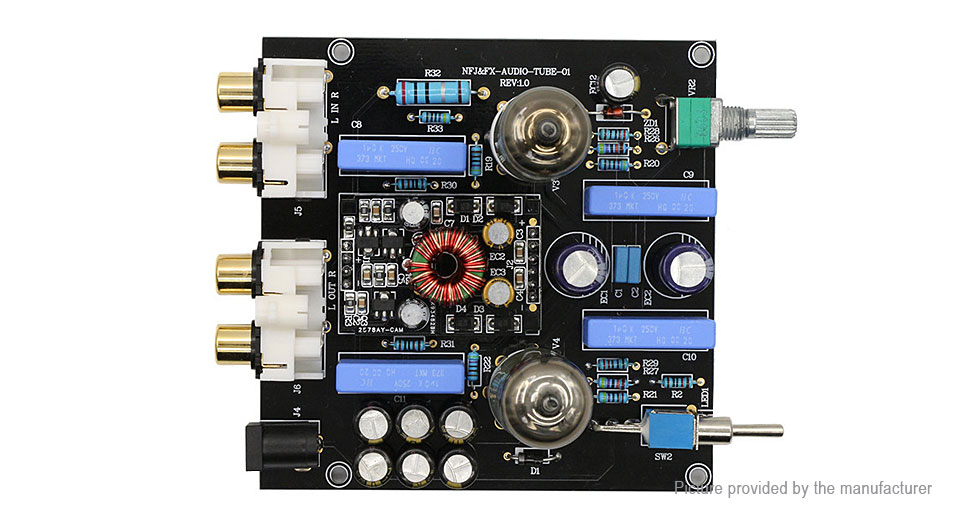 $35 66 FX-AUDIO TUBE-01 6J1 HiFi Preamp Tube Preamplifier (EU) - authentic  at FastTech - Worldwide Free Shipping