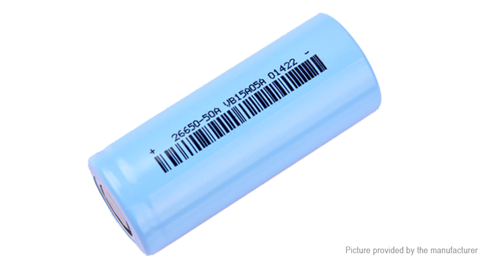 Authentic LiitoKala 26650 3.6V 5000mAh Rechargeable Li-ion Battery