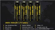 Authentic BASEN IMR 18650 3.7V 3500mAh Rechargeable Li-Mn Battery (8-Pack)