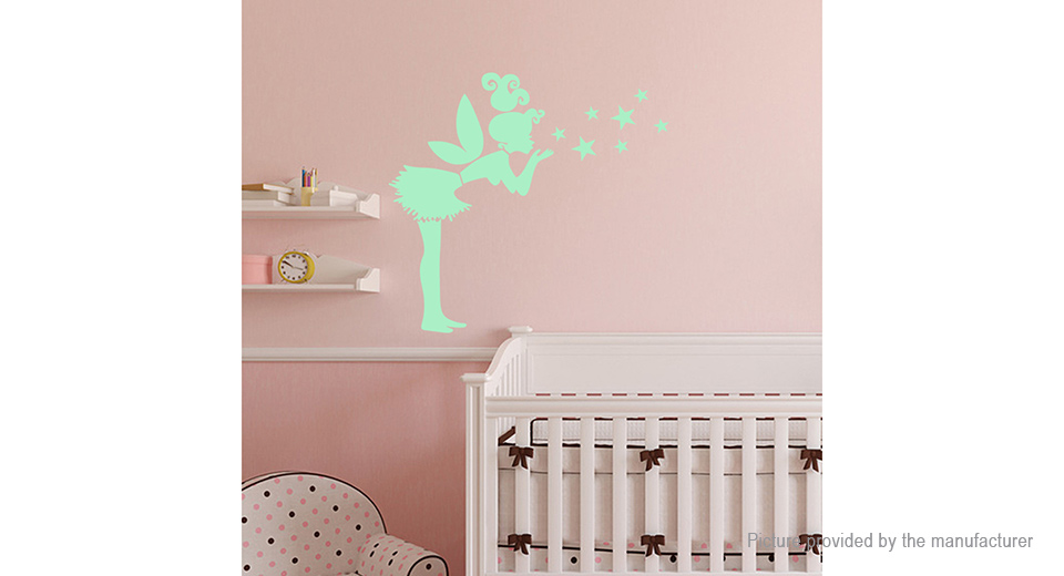 Angel & Stars Styled Glow-in-the-Dark Removable Wall Sticker Home Decor