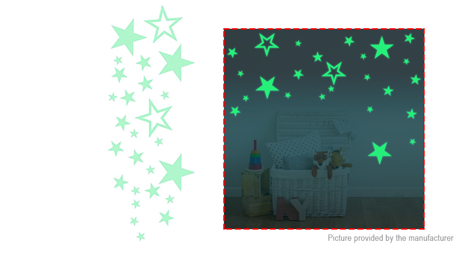 Product Image: stars-styled-glow-in-the-dark-removable-wall