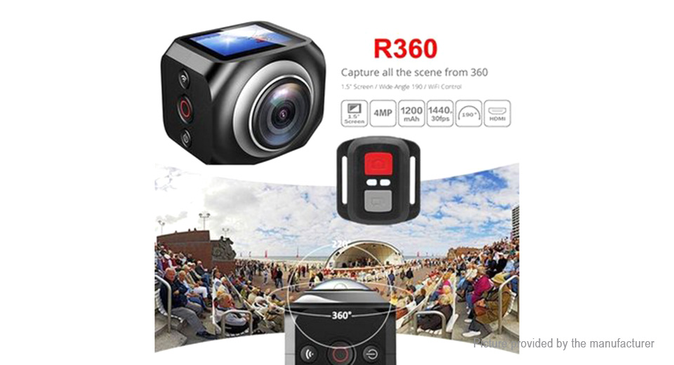 360' Panoramic 1080p Full HD Wifi Sports Action Camera