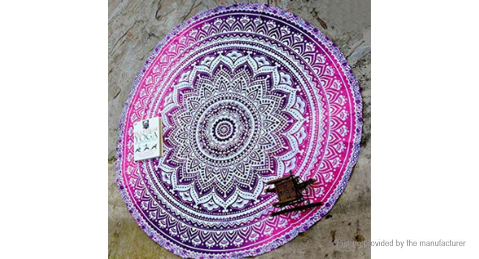 Product Image: round-beach-towel-yoga-mat-tippet-polyester