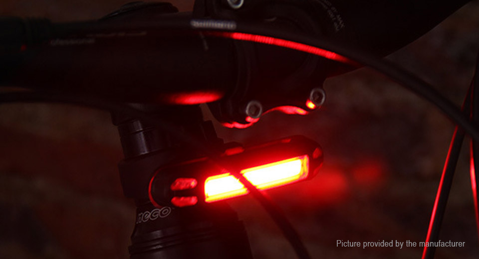 USB Rechargeable LED Bicycle Tail Warning Light