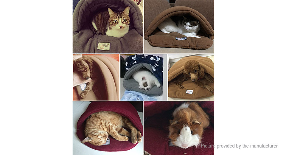 Pet Cat Dog Sleeping Bag Cushion Warm House Kennel Bed (Size XS)