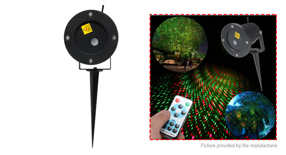 MGY MGY-031 50mW Green + 100mW Red Laser Decorative Landscape Projector  Light (US)