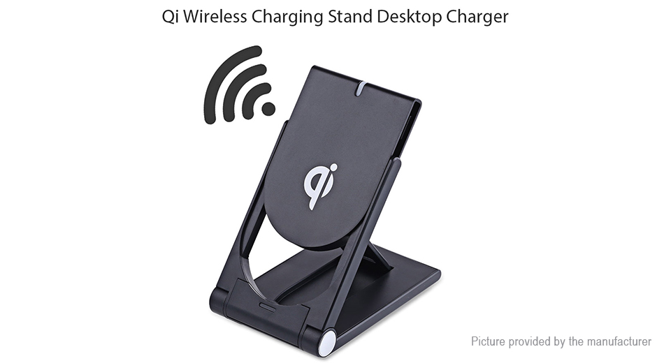 Qi Inductive Wireless Charging Stand Desktop Charger Transmitter