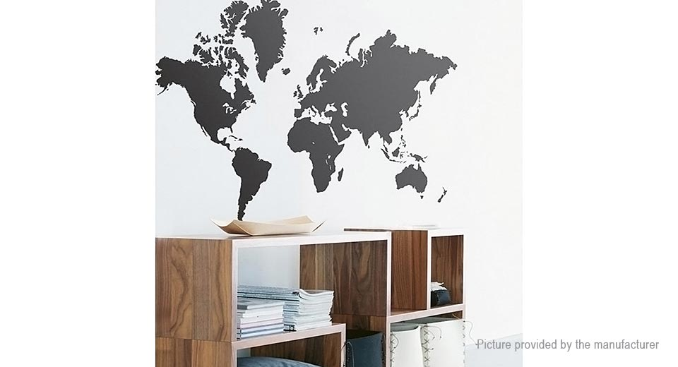 World Map Styled Removable Wall Sticker Home Decor