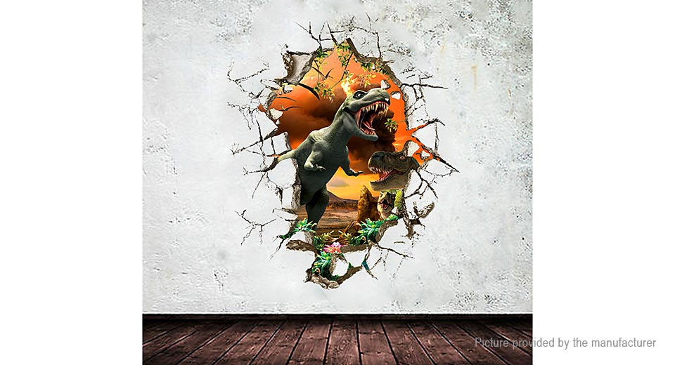 3D Dinosaur Styled Removable Wall Sticker Home Decor