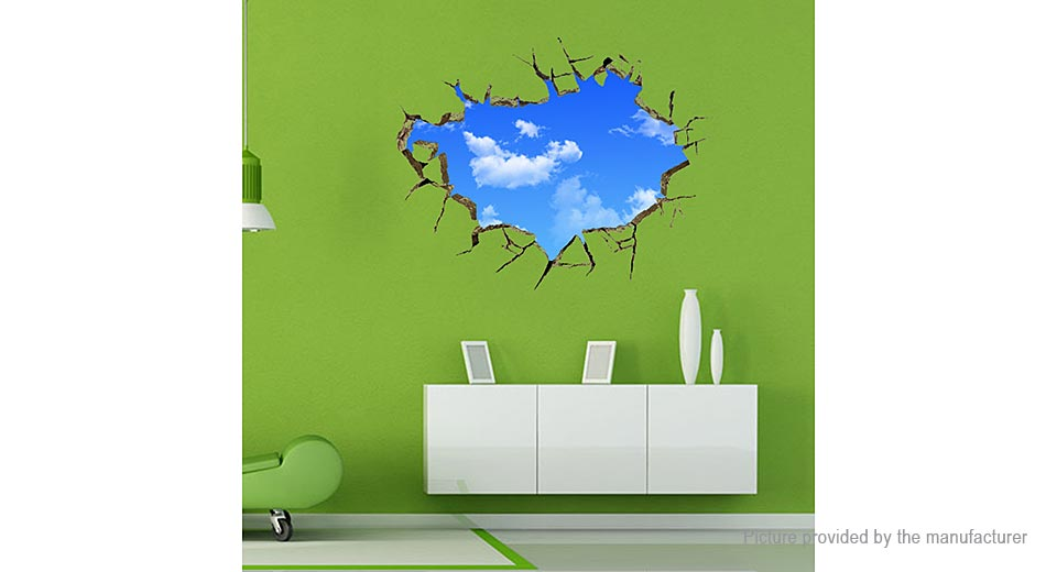 3D Blue Sky Styled Removable Wall Ceiling Sticker Home Decor