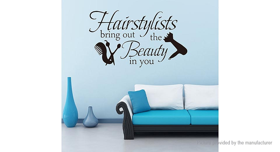Hairstylists Styled Removable Wall Sticker Home Decor